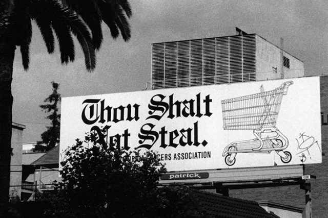 Billboard,  Ramparts Neighborhood, L.A. 1990