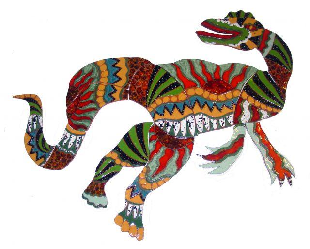 Ceramic Staurikosaurus by Marian Coleman 2013
